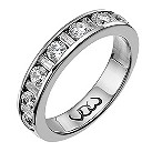 9ct white gold one carat baguette and round diamond ring - Product number 9715320