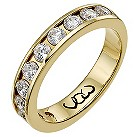 9ct gold one carat diamond channel set eternity ring - Product number 9715460