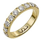 9ct gold one carat diamond bar eternity ring - Product number 9715592