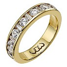 9ct gold one carat baguette and round diamond channel ring - Product number 9715738