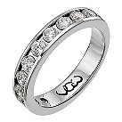 Palladium one carat diamond channel set eternity ring - Product number 9715851