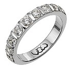 Palladium one carat diamond bar eternity ring - Product number 9715983
