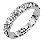 Platinum one carat diamond bar eternity ring - Product number 9716386