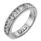 Platinum one carat baguette and round diamond channel ring - Product number 9716505