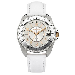 Police Men's Two Tone White Strap Watch - Product number 9716696