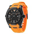 Police Men's Black Dial & Orange Strap Watch - Product number 9716769