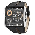 Police Men's Square Black Strap Watch - Product number 9716777