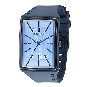 Police Men's Blue Rectangle Strap Watch - Product number 9716793