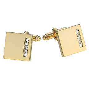 Gold Plated Made With Swarovski Crystal Cufflinks - Product number 9716882