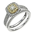 18 carat white & yellow gold 1 carat diamond bridal set - Product number 9717803