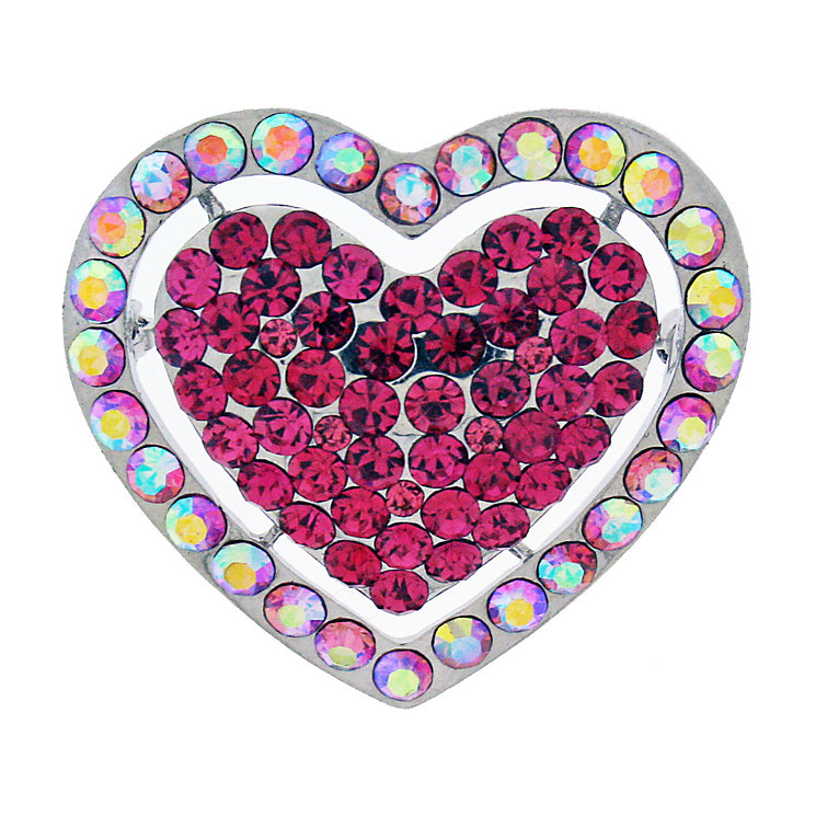 Pink Heart Brooch - Product number 9718230