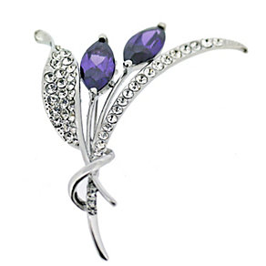 Purple Flower Brooch - Product number 9718265