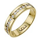 9ct gold third carat diamond set 5mm ring - Product number 9719997