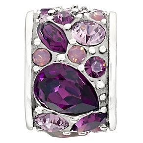 Chamilia Mosaic Purple Swarovski Crystal Bead - Product number 9723889