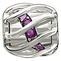 Chamilia Enchanting Spiral Purple Swarovski Element Bead - Product number 9723935