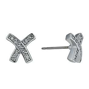 Radiance With Swarovski Crystal Elements Kiss Stud Earrings - Product number 9724796