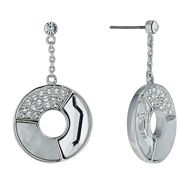 Radiance With Swarovski Crystal Round Drop Earrings - Product number 9724818
