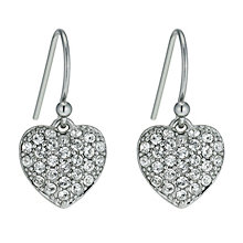 Radiance With Clear Swarovski Crystal Heart Drop Earrings - Product number 9724826