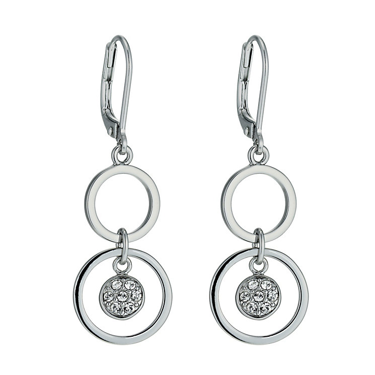 Radiance With Clear Swarovski Crystal Circle Drop Earrings - Product number 9724842