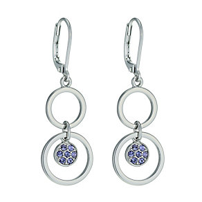 Radiance With Purple Swarovski Crystal Circle Drop Earrings - Product number 9724869