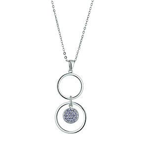 Radiance With Purple Swarovski Crystal Circle Drop Pendant - Product number 9724877