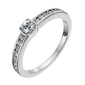 Radiance With Swarovski Crystal Solitaire Ring Size L - Product number 9724885