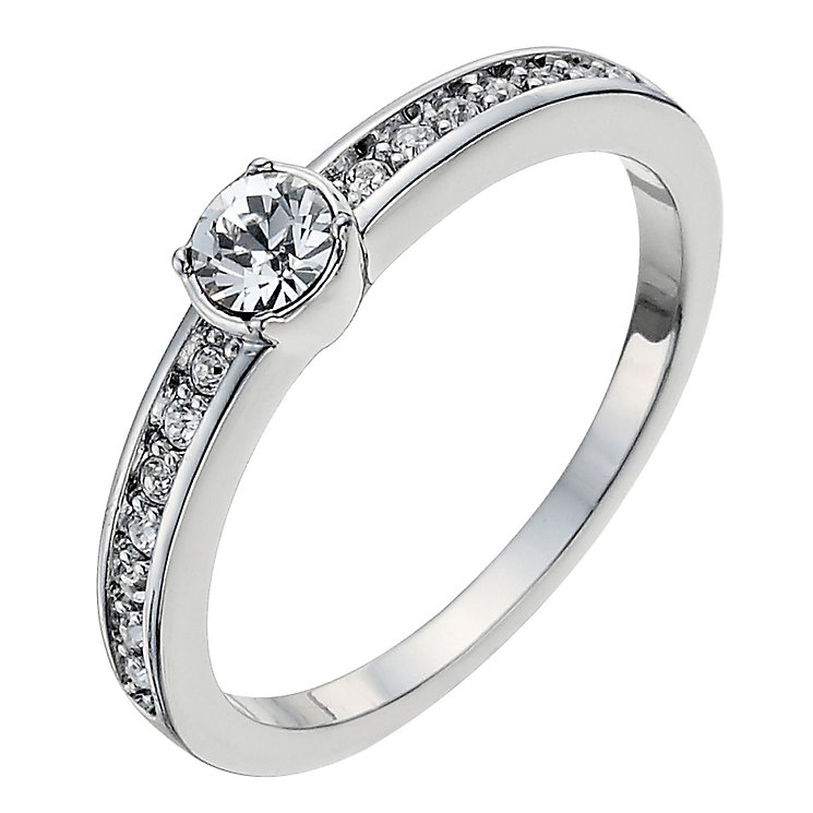 Radiance With Swarovski Crystal Elements Solitaire Ring N - Product number 9724893