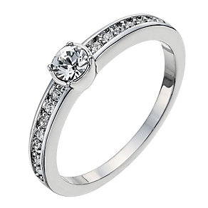 Radiance With Swarovski Crystal Elements Solitaire Ring P - Product number 9724907
