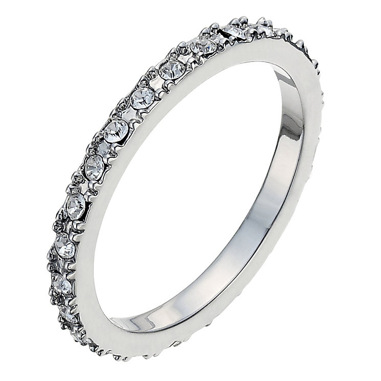 Radiance With Pave Set Swarovski Crystal Elements Ring N - Product number 9724923