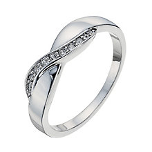 Radiance With Clear Swarovski Crystal Crossover Ring Size L - Product number 9724966