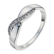 Radiance With Swarovski Crystal Elements Crossover Ring N - Product number 9724974
