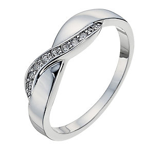 Radiance With Swarovski Crystal Elements Crossover Ring P - Product number 9724982