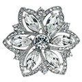 Radiance With Swarovski Crystal Flower Brooch - Product number 9725040