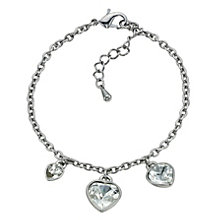 Radiance With Clear Swarovski Crystal Heart Charm Bracelet - Product number 9725075