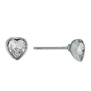 Radiance With Swarovski Crystal Elements Heart Stud Earrings - Product number 9725083