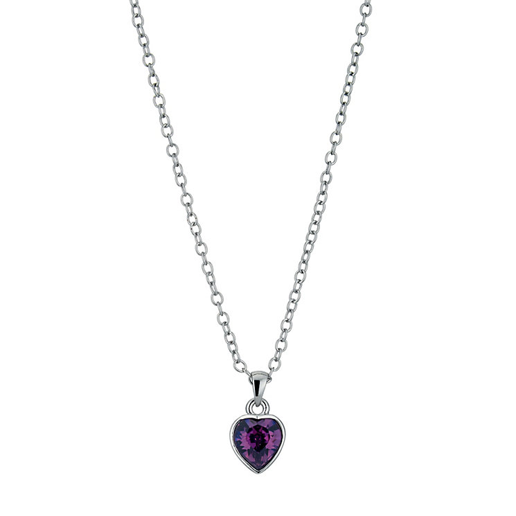 Radiance With Purple Swarovski Crystal Heart Pendant - Product number 9725121