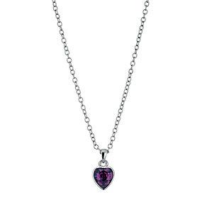Radiance With Purple Swarovski Crystal Heart Pendant - Product number 9725121