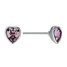 Radiance With Pink Swarovski Crystal Heart Stud Earrings - Product number 9725164
