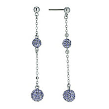 Radiance With Purple Swarovski Crystal Ball Drop Earrings - Product number 9725202