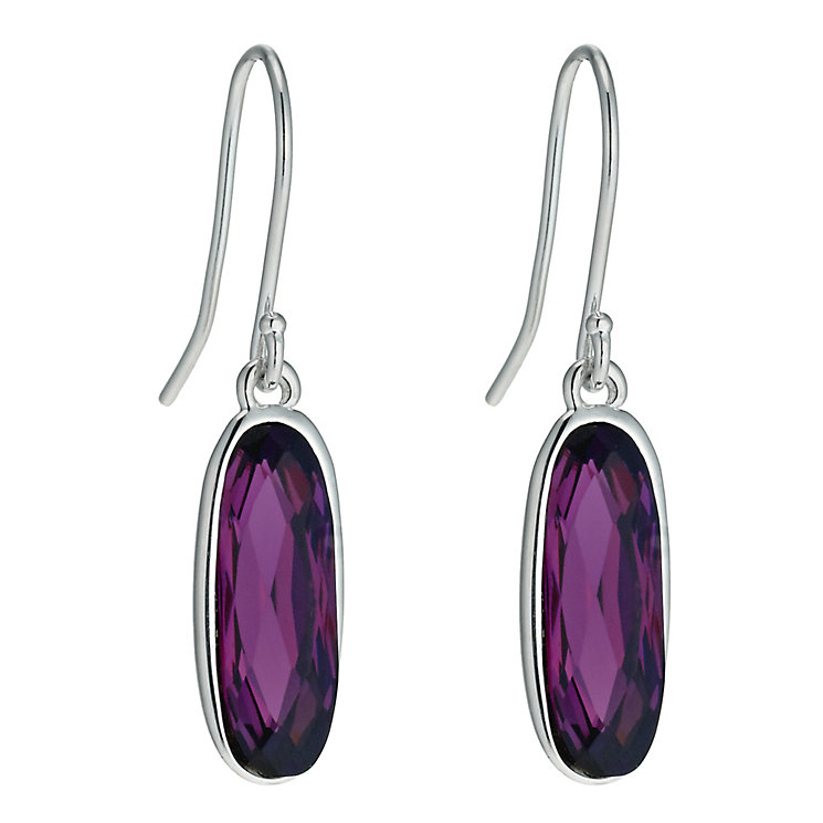 Radiance With Purple Swarovski Crystal Long Earrings - Product number 9725334