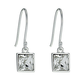 Radiance With Clear Swarovski Crystal Square Drop Earrings - Product number 9725393