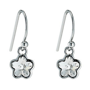 Radiance With Clear Swarovski Crystal Flower Drop Earrings - Product number 9725431