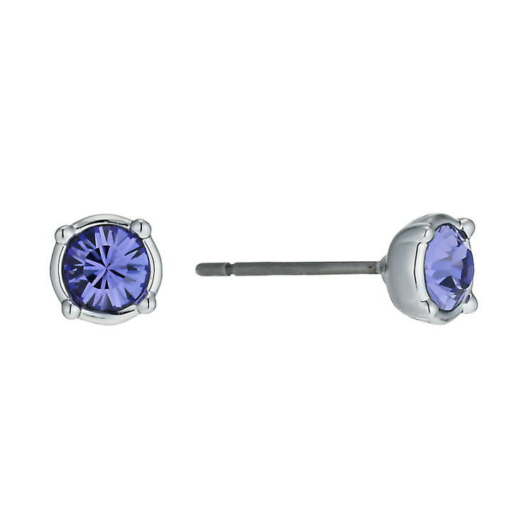 Radiance With Purple Swarovski Crystal Stud Earrings - Product number 9725482