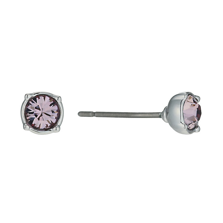 Radiance With Pink Swarovski Crystal Stud Earrings - Product number 9725490