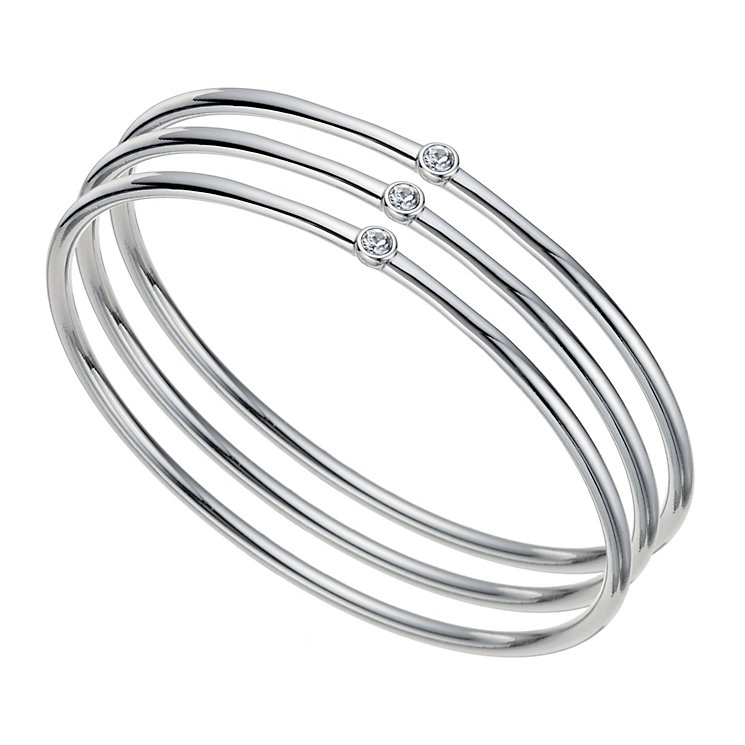 Radiance With Swarovski Crystal Three Stacker Bangle - Product number 9725563
