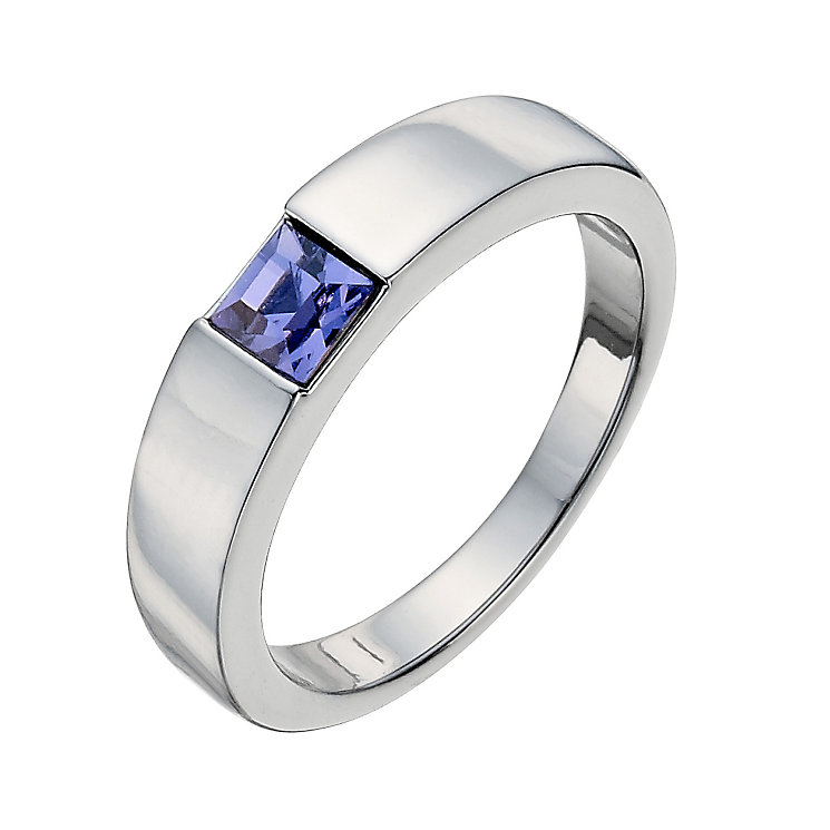 Radiance With Square Purple Swarovski Crystal Ring Size L - Product number 9725660