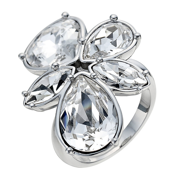 Radiance With Swarovski Crystal Flower Ring Size L - Product number 9725768