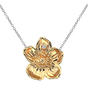 Hot Diamonds 9ct yellow gold and silver buttercup pendant - Product number 9727892