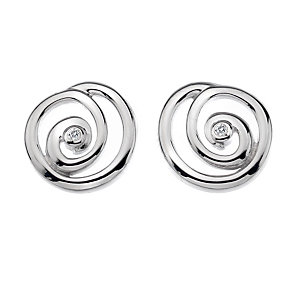 Hot Diamonds silver diamond organic spiral earrings - Product number 9727965