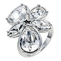 Radiance With Swarovski Crystal Elements Flower Ring N - Product number 9728139